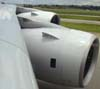 As duas turbinas esquerdas (Rolls-Royce Trent 900) do Airbus A380, número de série 007, F-WWJB, futuro avião da Emirates. (11/12/2007)