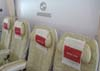 Última fileira de assentos da Classe Econômica do Airbus A380, número de série 007, F-WWJB, futuro avião da Emirates. (11/12/2007)