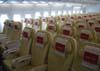 Assentos da Classe Econômica do Airbus A380, número de série 007, F-WWJB, futuro avião da Emirates. (11/12/2007)