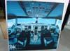 Pôster da cabine de pilotagem do Airbus A380, número de série 007, F-WWJB, futuro avião da Emirates. (11/12/2007)