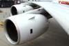 Turbinas (Rolls-Royce Trent 900) da asa direita do Airbus A380, número de série 007, F-WWJB, futuro avião da Emirates. (11/12/2007)