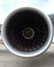 Detalhe do fan de uma das quatro turbinas Rolls-Royce Trent 900, do Airbus A380, número de série 007, F-WWJB, futuro avião da Emirates. (11/12/2007)