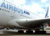 Detalhe da raiz da asa do Airbus A380, número de série 007, F-WWJB, futuro avião da Emirates. (11/12/2007)