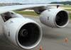 Detalhe das turbinas esquerdas (Rolls-Royce Trent 900) do Airbus A380, número de série 007, F-WWJB, futuro avião da Emirates. (11/12/2007)