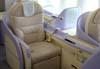 Assentos da Primeira Classe do Airbus A380, número de série 007, F-WWJB, futuro avião da Emirates. (11/12/2007)