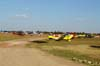 Aeronaves estacionadas no Aeroporto de Casa Branca. Na linha frontal, os aviões acrobáticos. (19/07/2008)