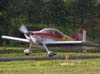 Pouso do Vans RV-6, PT-ZAX, do Comandante Beto Textor.