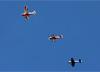 American Champion 7GCBC Citabria, PU-RER, Sukhoi SU-31, PT-ZSL, de Luiz Guilherme Richieri, e Extra EA-330LX, PR-XLX. (02/08/2014)