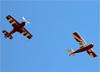 Sukhoi SU-31, PT-ZSL, de Luiz Guilherme Richieri, e American Champion 7GCBC Citabria, PU-RER. (02/08/2014)