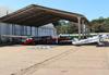 Aeronaves estacionadas ao lado do hangar da Esquadrilha da Fumaça. (02/08/2014)