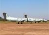 Embraer EMB-120QC Brasília (C-97), FAB 2005, e Embraer EMB-120ER Brasília (C-97), FAB 2012, ambos da FAB (Força Aérea Brasileira). (02/08/2014)