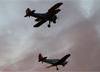 Boeing A75N1 Stearman (PT-17), PT-ZEH, de Eduardo Haupt, e Fairchild/Fábrica do Galeão 3FG (PT-19A Cornell), PP-HLB, do Aeroclube de Pirassununga. (02/08/2014)