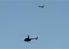 Cessna 172N Skyhawk, PT-MBI, do Aerolcube de Araras, e Robinson R44 Raven II, PR-PGC, da Helimarte. (24/06/2017)