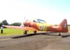 North American T-6D, PT-LDO, aeronave número 3 da Esquadrilha OI. Foto: João Thiago Domingues.