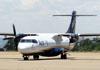 """Aerospatiale/Alenia ATR 72-202, PR-AZS (Chamado """"Gralha Azul""""), da Azul, taxiando no aeroporto de Ribeirão Preto. (04/11/2011)"""
