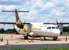 ATR 72-600, PR-PDB, da Passaredo, estacionado no aeroporto de Ribeirão Preto. (12/02/2013)