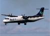 ATR 72-600 (ATR 72-212A), PR-AQP, da Azul, pousando no aeroporto de Ribeirão Preto. (28/06/2015)