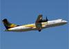 ATR 72-500 (ATR 72-212A), PR-PDH, da Passaredo, decolando no aeroporto de Ribeirão Preto (SP). (28/10/2014)