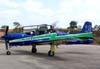 Embraer T-27 Tucano número 5, FAB 1360, da Esquadrilha da Fumaça, estacionado no pátio do Centro Tecnológico da TAM. (04/10/2007)