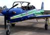 Embraer T-27 Tucano número 3, FAB 1327, da Esquadrilha da Fumaça, estacionado no pátio do Centro Tecnológico da TAM. (04/10/2007)