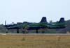 Decolagem dos Embraer T-27 Tucano número 3, FAB 1327, e número 5, FAB 1360, da Esquadrilha da Fumaça. (04/10/2007)