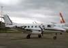 Embraer EMB-110C Bandeirante, PT-EDO, da Extreme Táxi Aéreo, estacionado no pátio em frente ao hangar da TAM. Esta aeronave foi entregue para a VASP no dia 29 de março de 1974 com o prefixo PP-SBD, no dia 27 de maio de 1976 passou a fazer parte da frota da TAM, em 1990 foi transferida para a Brasil Central (ex-Votec - mudou de nome depois que o Comandante Rolim adquiriu a empresa em 1986), e no dia 31 de agosto de 1995 foi recebida pela Extreme Táxi Aéreo com o prefixo PT-EDO, em homenagem ao proprietário da empresa, o Comandante Carlos Edo. (08/12/2007)