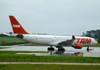 Airbus A330-223, PT-MVD, da TAM, estacionado no pátio em frente ao hangar da companhia paulista. Esta aeronave foi recebida pela TAM em 1999 e voou na Etihad Airways com o prefixo A6-EYB entre 2003 e 2006, quando retornou para a TAM. (08/12/2007)