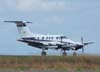Pouso do King Air F-90, PT-OOX, da Tecunseh do Brasil. (11/11/2006)