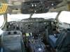 Cabine de pilotagem do Airbus A300B2-203, PP-SNM, da VASP, recebido pela companhia paulista diretamente do fabricante no dia 8 de novembro de 1982. Esta aeronave foi estocada no aeroporto de Cumbica, em Guarulhos. Quando o avião pousou em São Carlos, o pessoal da TAM achou que a VASP tinha doado a aeronave para o museu devido ao estado de abandono do A300! Na verdade, a TAM pesou e balanceou o avião por ordem do DAC (Departamento de Aviação Civil - atual ANAC, Agência Nacional de Aviação Civil). (16/04/2004) Foto: Rogério Castellao.