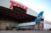 Airbus A300B2-203, PP-SNM, da VASP, recebido pela companhia paulista diretamente do fabricante no dia 8 de novembro de 1982. Esta aeronave foi estocada no aeroporto de Cumbica, em Guarulhos. Quando o avião pousou em São Carlos, o pessoal da TAM achou que a VASP tinha doado a aeronave para o museu devido ao estado de abandono do A300! Na verdade, a TAM pesou e balanceou o avião por ordem do DAC (Departamento de Aviação Civil - atual ANAC, Agência Nacional de Aviação Civil). (16/04/2004) Foto: Rogério Castellao.
