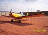 Neiva EMB-201A Ipanema (PT-GYT), estacionado no pátio da aviação geral.