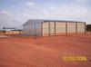 Hangares na área destinada à aviação geral.