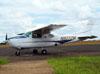Cessna 210K Centurion, N8232M, estacionado no aeroporto de São Carlos. (30/12/2011)
