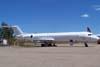 Fokker 100, PT-MQP, ex-TAM, estacionado no pátio do Centro Tecnológico da TAM, enquanto aguarda a devolução para o arrendador. (05/09/2007)
