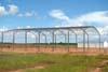 Construção do hangar da Transpel. (16/02/2008)