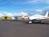 Aeronaves estacionadas no pátio de aviação geral. (28/01/2007)
