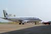 """Airbus A319-133X CJ (VC-1A), """"Santos Dumont"""", do GTE (Grupo de Transporte Especial) da FAB (Força Aérea Brasileira), estacionado em frente ao hangar de manutenção da TAM. (30/08/2007)"""