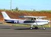Cessna 152 II, PR-ABR, do Aeroclube de Jundiaí. (16/12/2009)