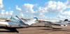 Beechcraft V35B Bonanza, PT-DNJ, e Cessna 172M Skyhawk, PT-KHP. (16/06/2012) Foto: Felipe Dionízio.