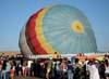 Balão S-23, PT-ZMF, sendo esvaziado. Foto: AFAC - afacjirg@yahoo.com.br