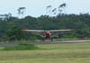 Aero Boero 180 do CVV da AFA, se aproximando para o pouso.