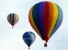 Balões decolando no aeroporto Doutor Adhemar de Barros.