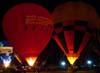 Balões aguardando o início do Night Glow.
