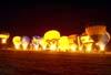 Balões durante o Night Glow.