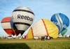 Balões sendo inflados no aeroporto Doutor Adhemar de Barros.