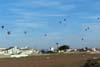 Balões voando baixo em direção ao alvo. (23/06/2007)