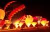 Balões durante o Night Glow. (23/06/2007)