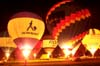 Balões realizando o Night Glow. (23/06/2007)