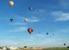 Balões sobrevoando a cidade de Rio Claro. (23/06/2007)