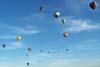 Balões voando em direção ao alvo. (23/06/2007)